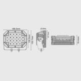 Светодиодная фара  6 ближнего  света Аврора  ALO-L-6-E7K ALO-L-6-E7K фото-3