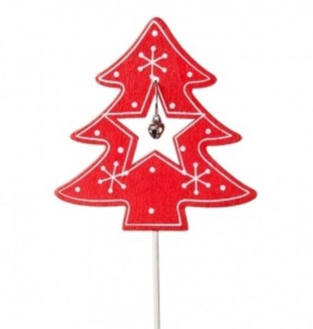 Вставка новогодняя Елочка с звездой, 7хH20см, (в упаковке 12 шт.)