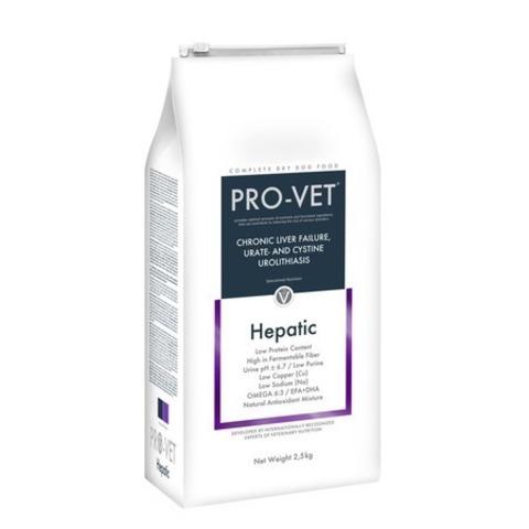 Pro-Vet Dog Hepatic сухой корм для взрослых собак при заболеваниях печени - 2,5 кг