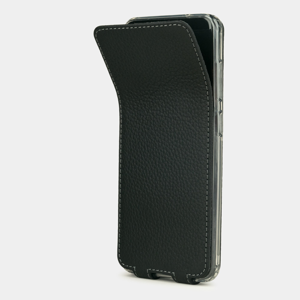 Чехол для Samsung Galaxy S20+ из натуральной кожи теленка, цвета черный мат