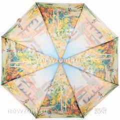 Компактный мини зонтик в 5 сложений TRUST «Осенние берёзы»