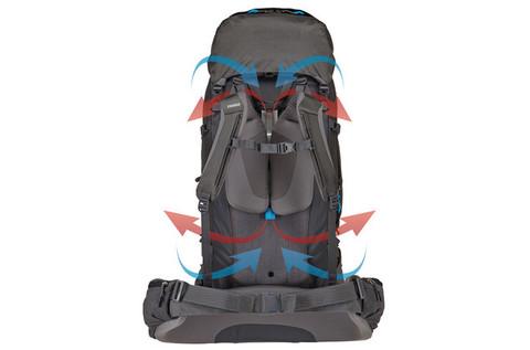 Картинка рюкзак туристический Thule Guidepost 65L Синий - 10