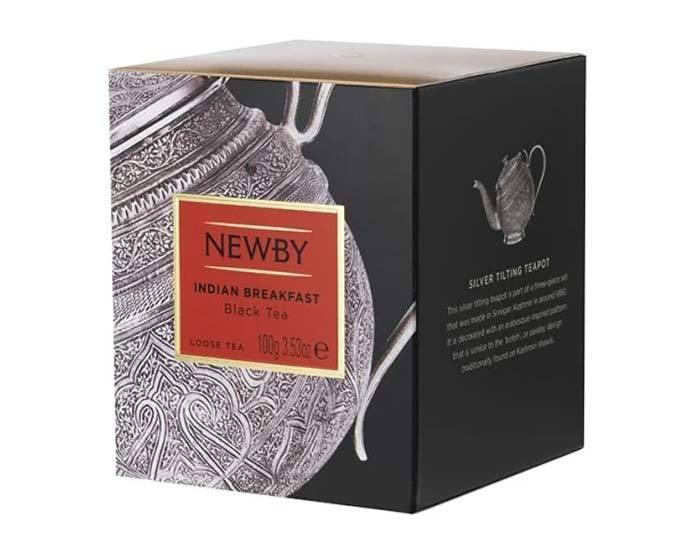 Чай черный листовой Newby Heritage Indian breakfast, 100 г