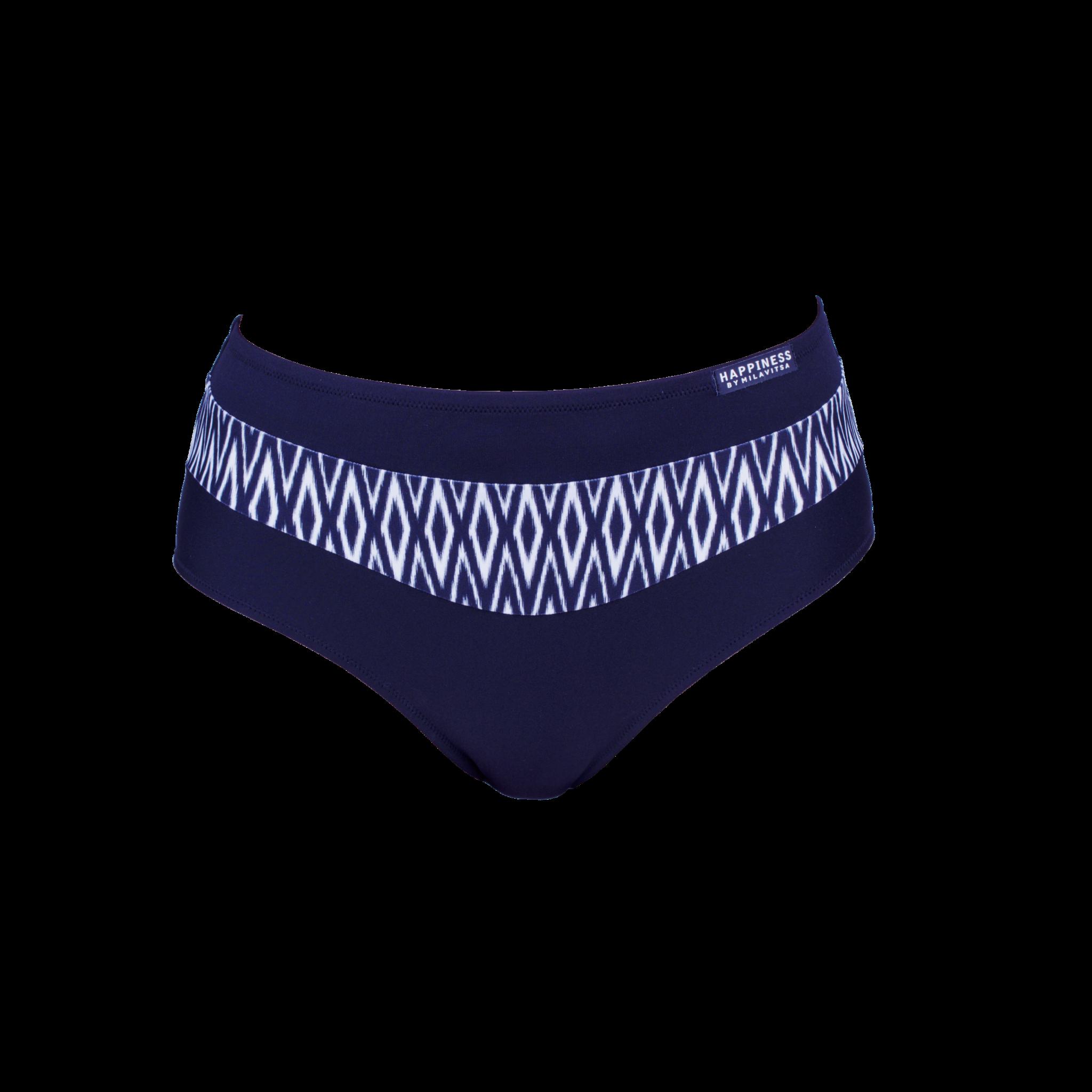 480127 Трусы купальные жен. синий с белым