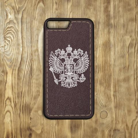 "Бампер ""Герб РФ"", шоколад, прошитый"