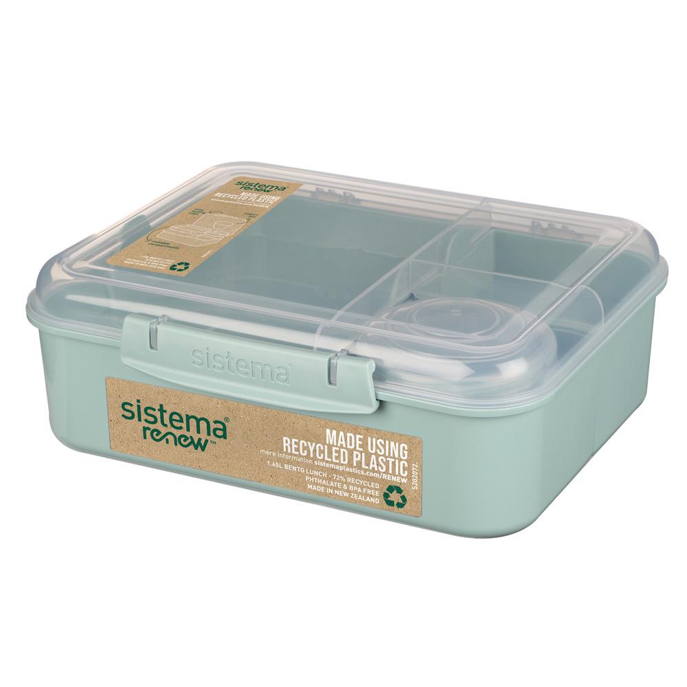 """Ланч-бокс Sistema """"Bento Box Renew"""" 1,65л, цвет Светло-зеленый"""