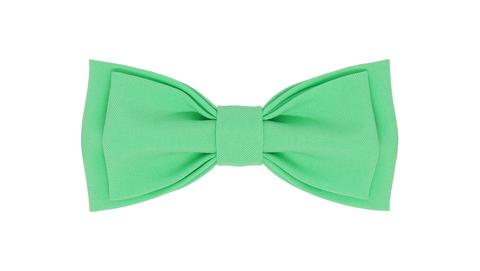 Однотонный галстук - бабочка (зеленая мята)