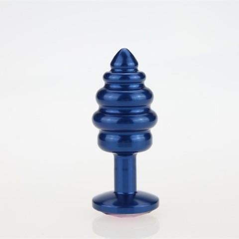 Пробка металл 7,3х2,9см фигурная синяя фиолетовый страз 47428-5MM