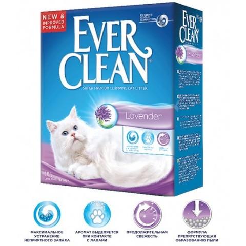 Наполнитель Ever Clean Lavender Наполнитель для туалета кошек с ароматом лаванды комкующийся (сиреневая полоска) 10 кг
