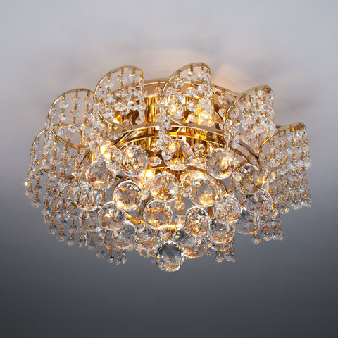 Потолочная люстра с хрусталем 16017/6 золото