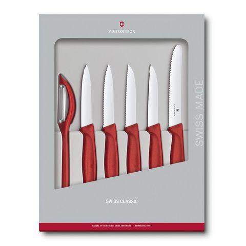 Набор ножей для кухни Victorinox Swiss Classic Kitchen (6.7111.6G) 6шт красный в коробке