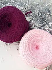 Розовый  трикотажная пряжа