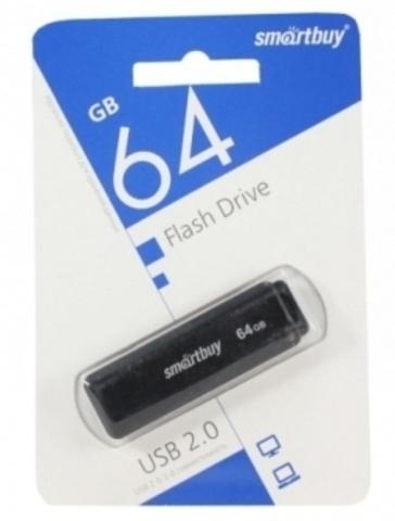 Флеш-накопитель USB  64GB  Smart Buy  LM05 чёрный
