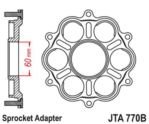 Крепление ведомой звезды алюминиевое JTA770B