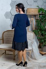 Жаклін. Повсякденна сукня великих розмірів. Синій