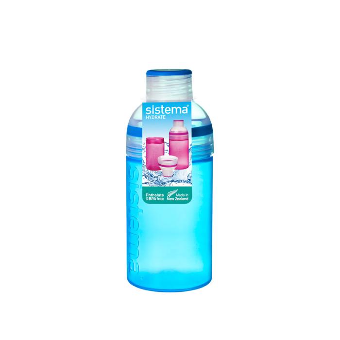 "Бутылка для воды Sistema ""Hydrate"" 480 мл, цвет Синий"