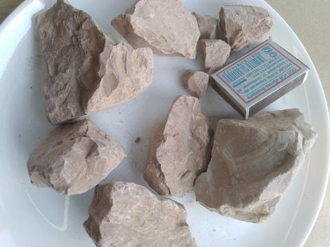 Жетысай розовая глина казахстанская нечищенная