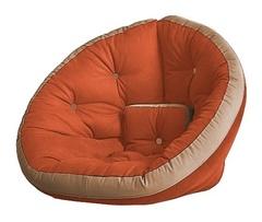 Кресло Farla Lounge Оранжевое с бежевым