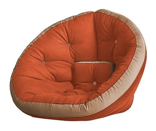 Универсальные кресла Кресло Farla Lounge Оранжевое с бежевым ora_tbeg_tbeg.jpg