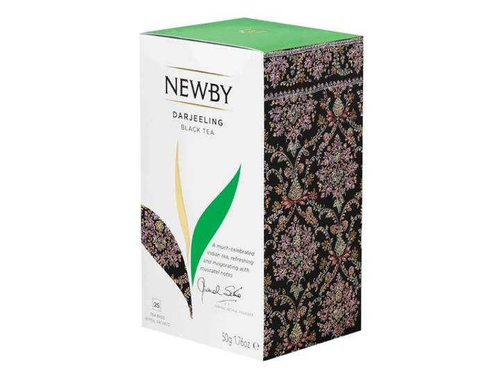 Чай черный в пакетиках Newby Darjeeling, 25 пак/уп