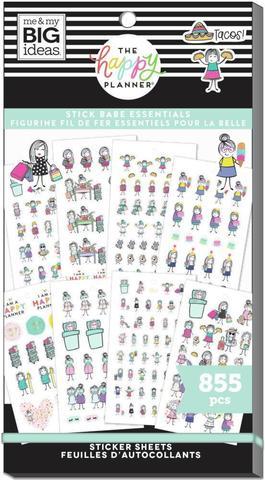 Блокнот со стикерами для ежедневника Value Pack Stickers - Stick Girls Essentials- 855 шт