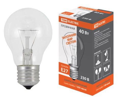 Лампа накаливания общего назначения  Б60 Вт-230 В-Е27 TDM