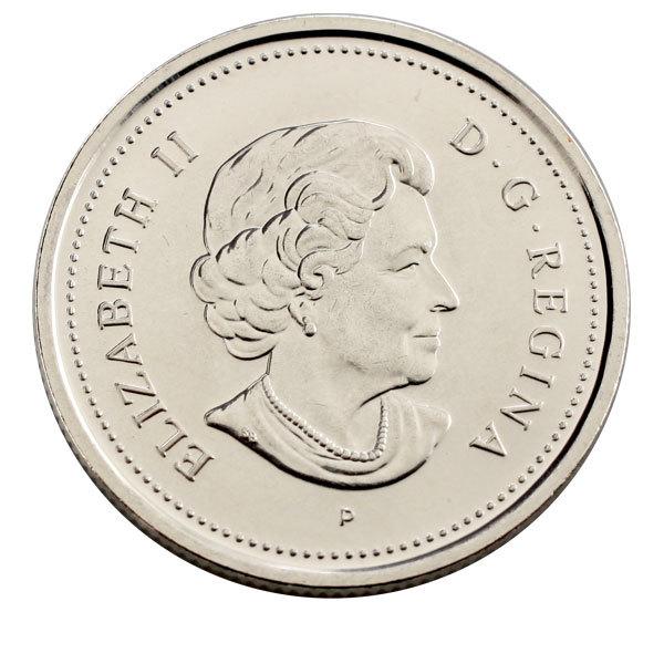 25 центов 400 лет первым поселениям Европейцев в Канаде 2004 год UNC