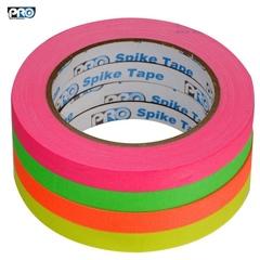 Скотч ProTapes флуоресцентный текстильный в наборе из 4 цветов gaffer tape для сцены и осветительного оборудования.