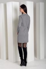Лиона. Великолепное платье-пиджак. Принт лапки