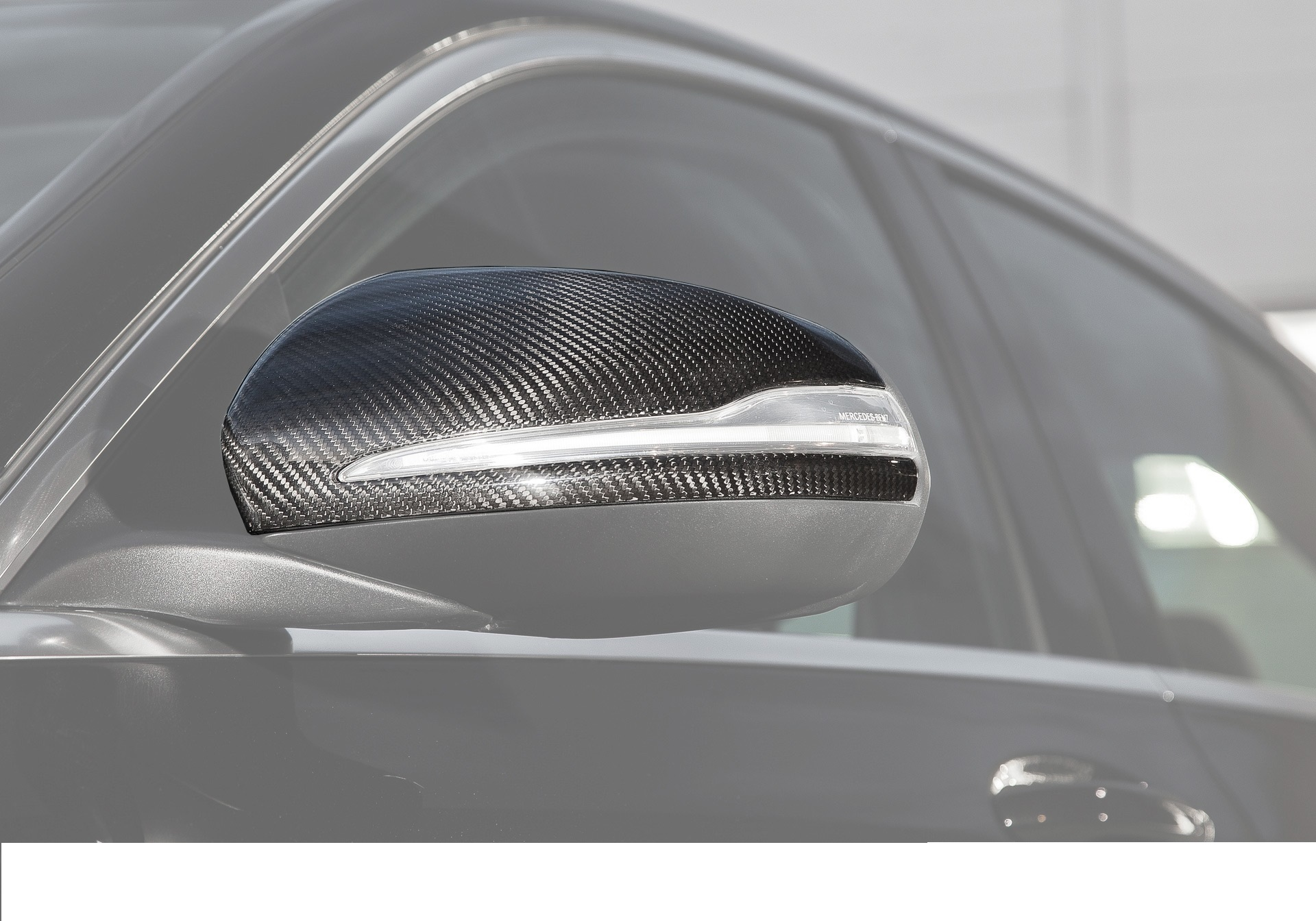 Карбоновые накладки на зеркала Brabus Style AMG Sport для Mercedes С-class W205