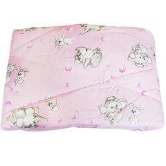 Папитто. Одеяло детское стеганое полушерстяное, 110х140 см  розовый вид 7