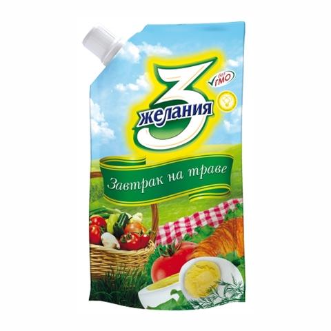 Майонез 3 ЖЕЛАНИЯ Завтрак на траве 25% 380 гр ДП КАЗАХСТАН