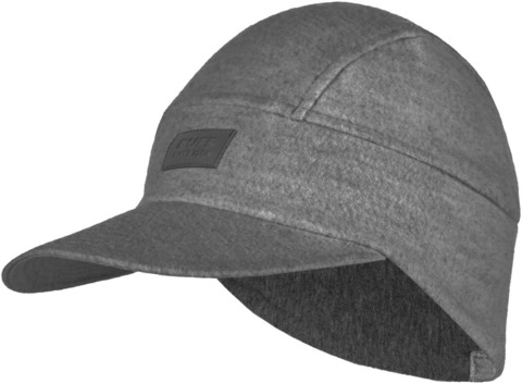 Зимняя шерстяная кепка Buff Wool Fleece Pack Cap Grey фото 1