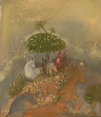 Fresco. Quadriptych