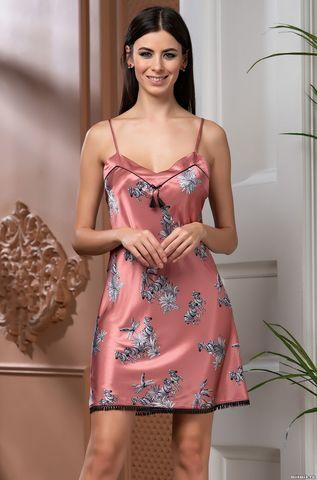 Короткая атласная ночная сорочка Mia Amore Саванна