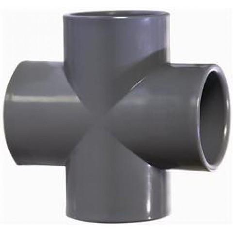 Крестовина ПВХ диаметр 400 0,6 Мпа Pimtas