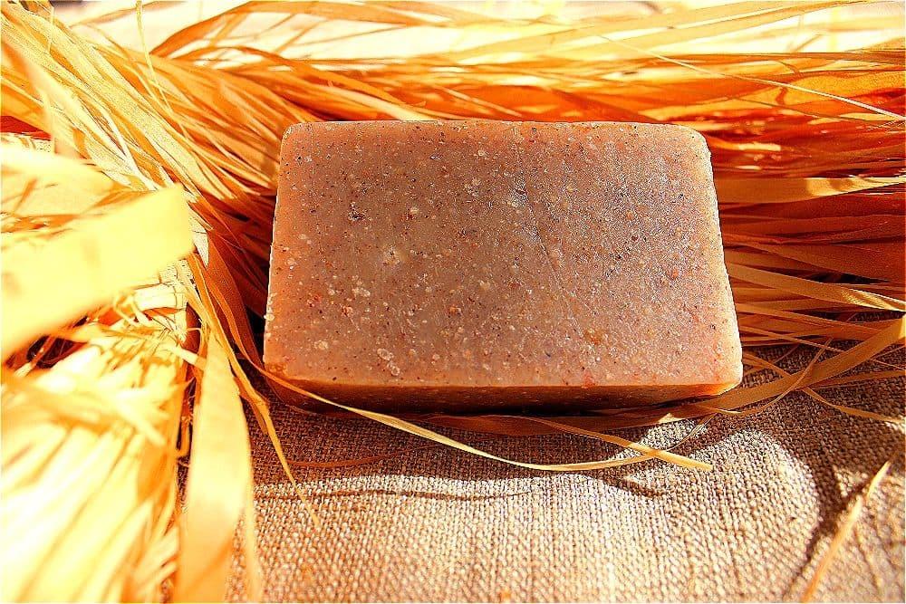 Натуральное мыло Ежевичное Карельское мыло