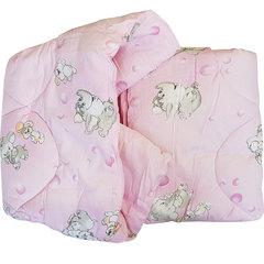 Папитто. Одеяло детское стеганое полушерстяное, 110х140 см  розовый вид 8