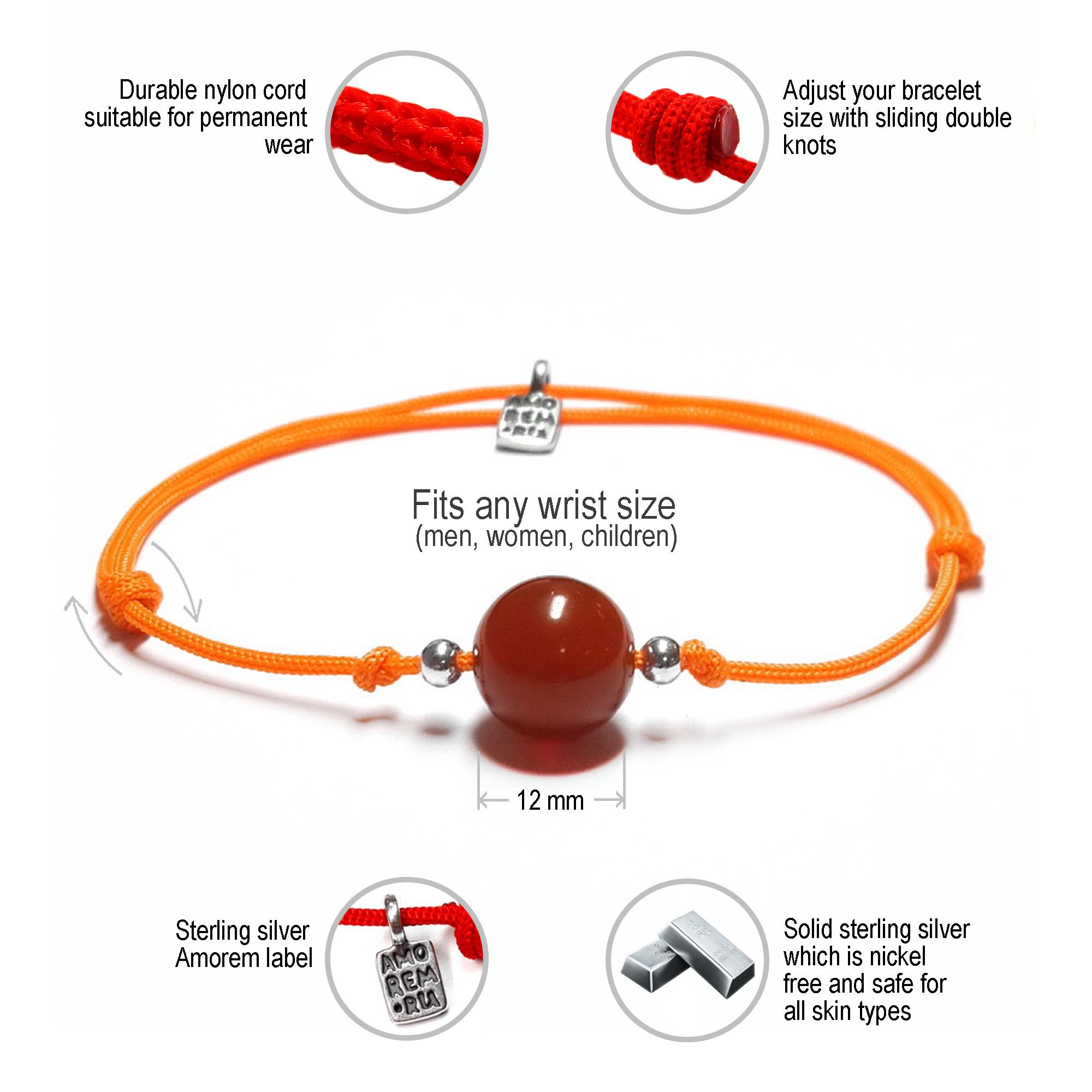 2nd Chakra Bracelet, sterling silver