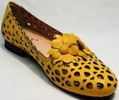 Модные слиперы босоножки закрытые женские Phany 103-28 Yellow.
