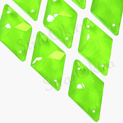 Пришивные стразы купить оптом форма Romb Neon Green