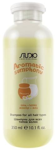 Kapous, Шампунь для всех типов волос «Молоко и мёд», 350 мл