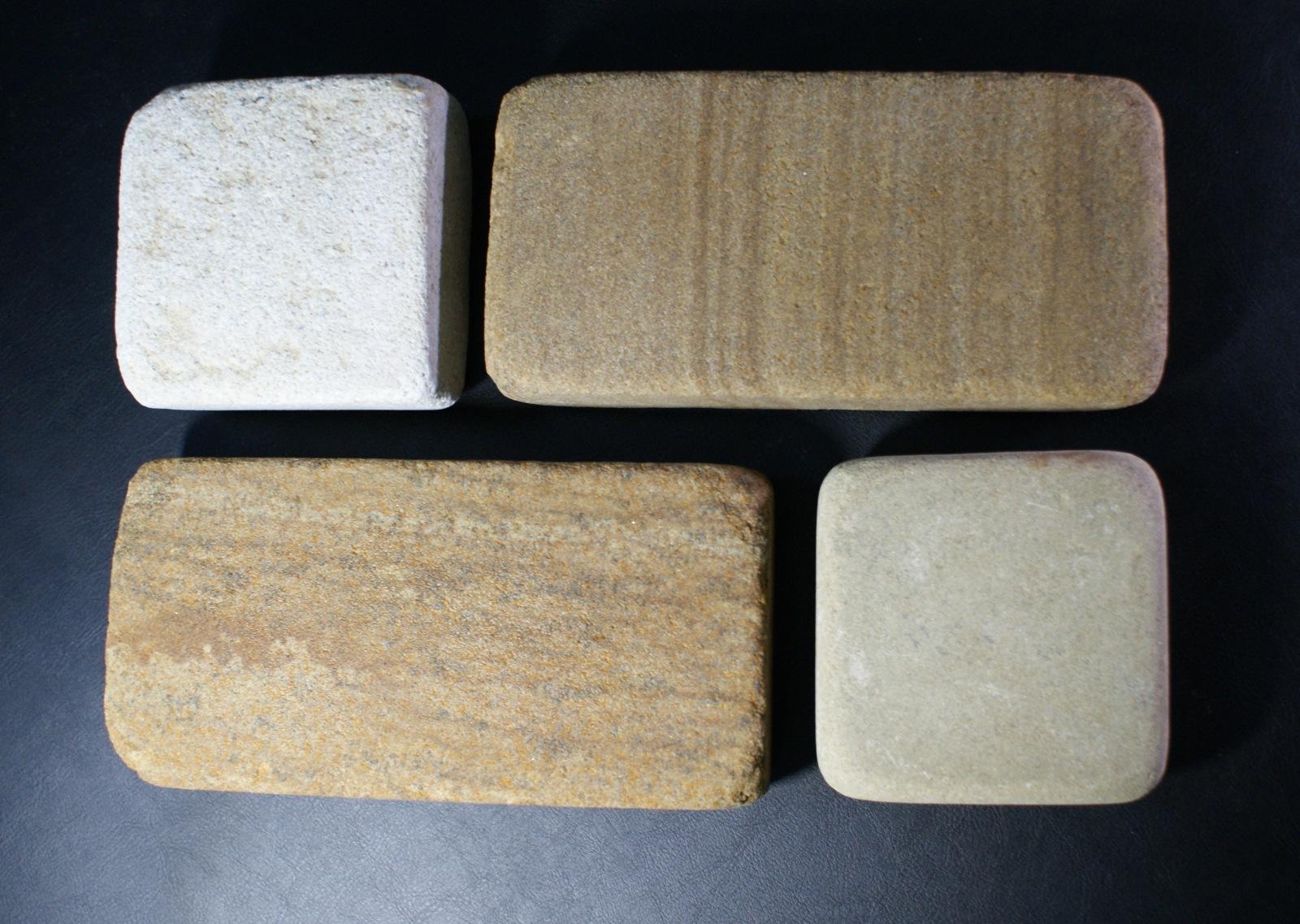 набор Брусчатки песчаник галтованный Венге с Жемчугом, образец кладки