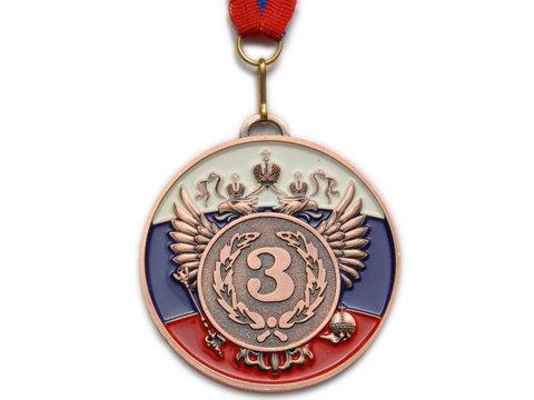 Медаль наградная с лентой, d - 65мм ( цвет