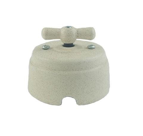 Выключатель керамический 1-2 клавишный (песчаник)