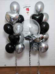 Черно-серебряные шары