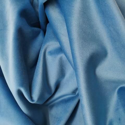 Бархат матовый стрейч, ворс 0,5 мм., Небесно-голубой(выбрать  размер)
