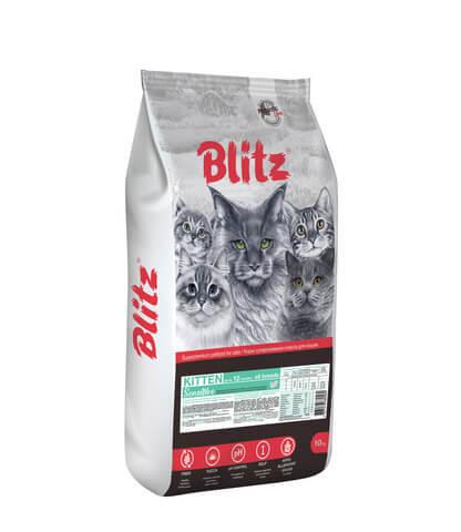 купить Blitz Kitten сухой корм для котят, беременных и кормящих кошек с индейкой 10 кг