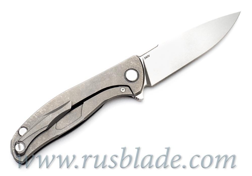 CUSTOM Shirogorov S90V HATI KNIFE Rare - фотография