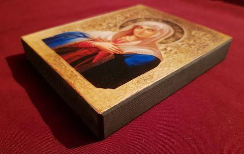 Икона Божией Матери Умиление на дереве на левкасе мастерская Иконный Дом